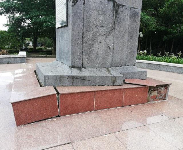 Một phần tượng đài nữ anh hùng liệt sĩ Lê Thị Riêng xuống cấp tại Bạc Liêu! - Ảnh 4.