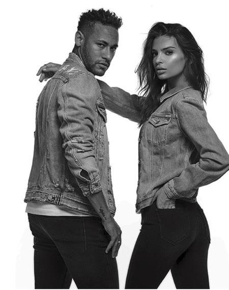 Neymar và Emily Ratajkowski đã cộng tác rất ăn ý