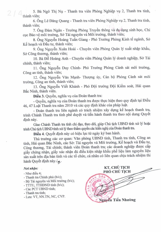 Thanh tra hàng loạt các doanh nghiệp nhập khẩu phế liệu tại Bắc Ninh! - Ảnh 2.