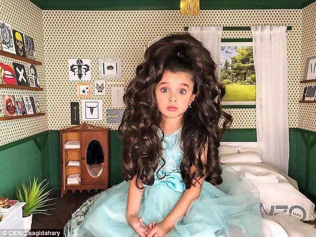 Cô bé 5 tuổi nổi tiếng mạng xã hội nhờ mái tóc đẹp không tưởng - 5