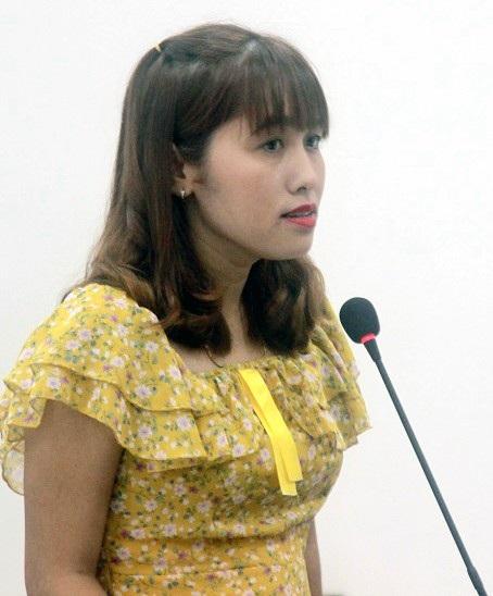 Chị Nguyễn Thúy Ngân đề nghị giảm án cho chồng cũ.