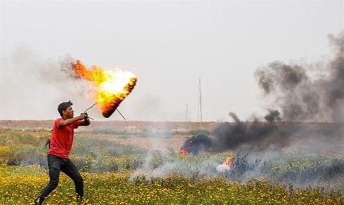 Các cuộc tấn công bằng diều lửa từ phía Gaza đã đốt cháy nhiều cánh đồng của Israel. Ảnh: Israel Nation News