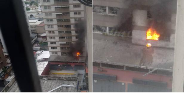 Máy bay không người lái rơi và phát nổ ở khu vực dân cư. (Ảnh: Twitter)