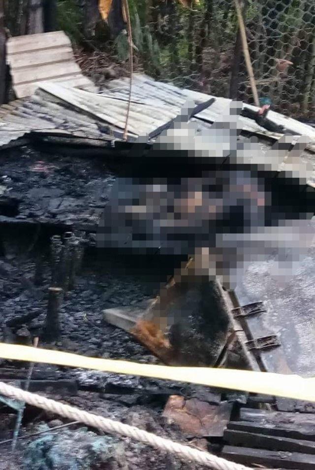 Hiện trường nhà bị cháy. (Ảnh: CTV)