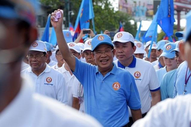 Thủ tướng Campuchia Hun Sen (Ảnh: AFP)