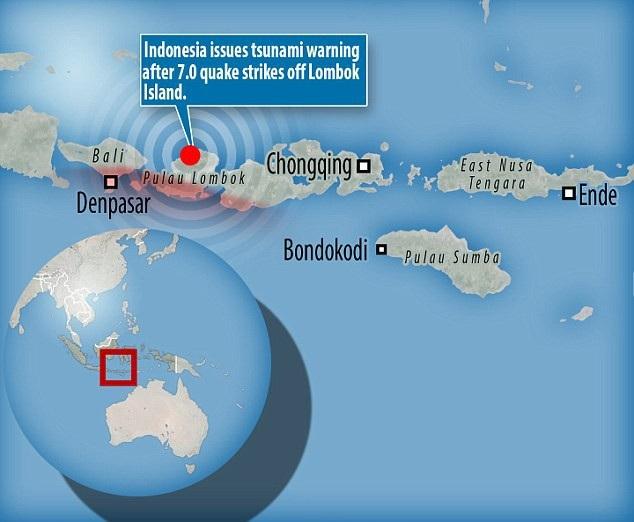 Cảnh báo sóng thần đã được đưa ra, người dân được khuyến cáo tránh xa vùng biển. Cảnh báo này được dỡ bỏ vài tiếng sau đó.