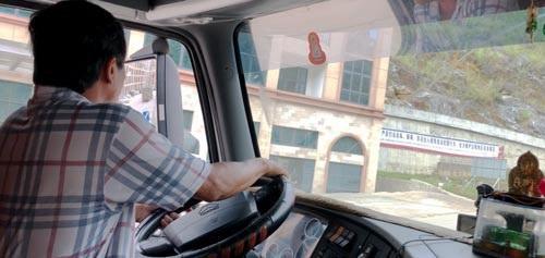 Tài xế Hậu cho xe chạy vào địa phận Trung Quốc để tìm đến bãi xe Pò Chài