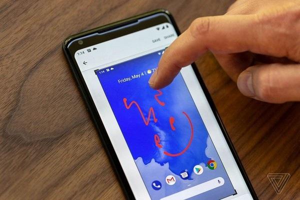 Người dùng có thể chỉnh sửa trực tiếp ảnh màn hình vừa chụp được, thay vì phải nhờ đến một ứng dụng khác như trước đây