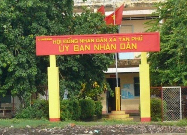 Xã Tân Phú (huyện Thới Bình, tỉnh Cà Mau), nơi xảy ra vụ việc.