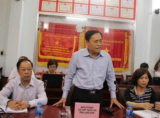 Ông Hồ Tiến Thiệu - Phó Chủ tịch UBND tỉnh Lạng Sơn, Trưởng Ban chỉ đạo thi THPT Quốc gia 2018 tỉnh Lạng Sơn. (Ảnh: Lệ Thu)