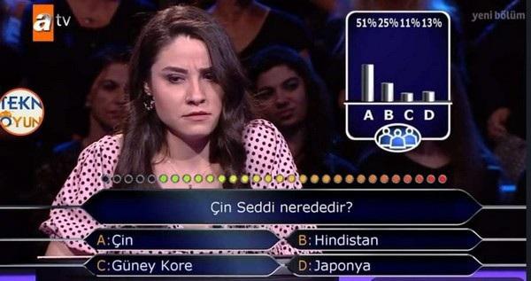 Su Ayhan gặp khó khăn trước một câu hỏi cực dễ, trong khi sự trợ giúp của khán giả cũng không đủ khiến cô tự tin