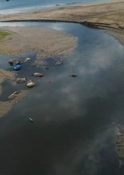 Đà Nẵng: Mưa lớn, nước thải chưa qua xử lý lại tràn ra biển - 3