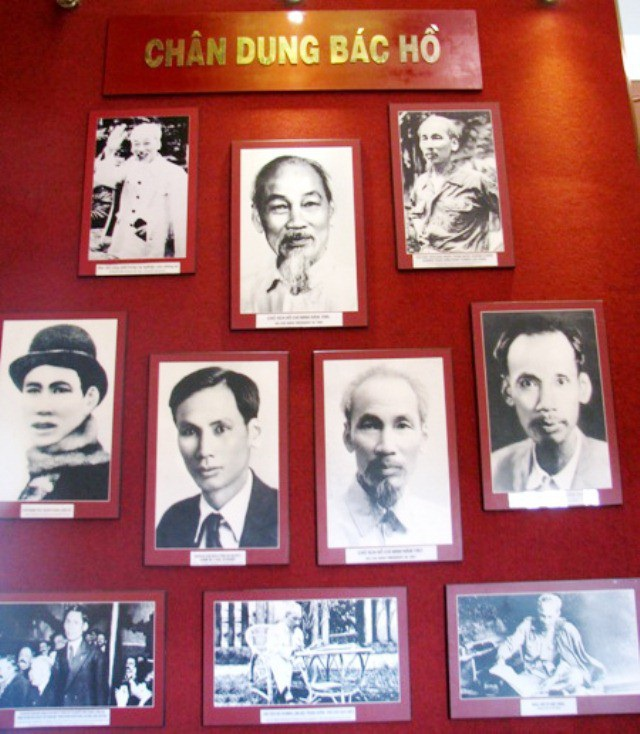 Chân dung Chủ tịch Hồ Chí Minh qua từng thời gian.