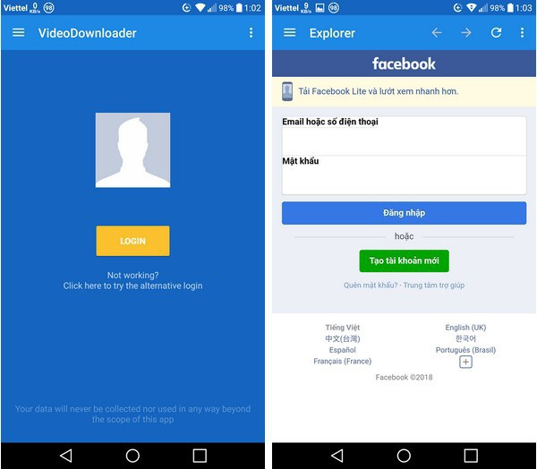 Thủ thuật giúp download video chất lượng cao từ Facebook về smartphone - 1