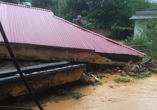 Trường học bị xóa sổ tại Thanh Hóa (Ảnh: Duy Tuyên).