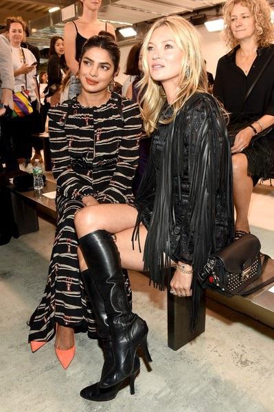 Priyanka Chopra và Kate Moss - mỗi người một phong cách