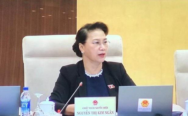 Chủ tịch Quốc hội Nguyễn Thị Kim Ngân đề nghị chốt lại 2 phương án báo cáo Bộ Chính trị quyết định