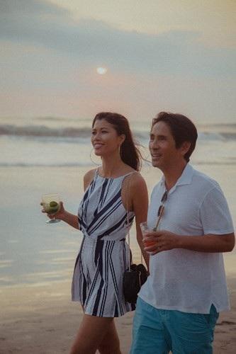 Siêu mẫu Trang Lạ gợi cảm cùng chồng đại gia khám phá thiên đường Bali - 4