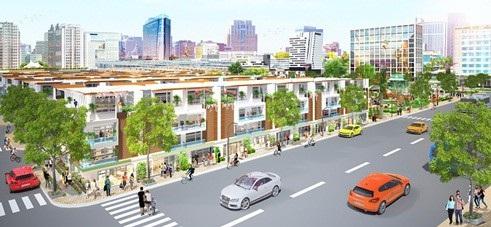 Mẫu nhà phố kết hợp ở và kinh doanh thuận tiện của Eco Town Long Thành.
