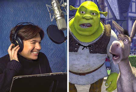 Gã chằn tinh Shrek đã phải thay đổi khá nhiều về giọng nói trước khi chính thức ra mắt khán giả vào năm 2001. Cụ thể, khi đã lồng tiếng được nửa bộ phim, nam diễn viên Mike Myers bỗng cảm thấy chất giọng Scotland rất hay và phù hợp với nhân vật. Cuối cùng, nhà sản xuất Jeffrey Katzenberg đã phải chi ra tới 4 triệu đô la Mỹ (10% kinh phí làm phim) để thực hiện lồng tiếng lại.