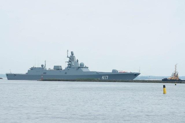 Tàu khu trục Đô đốc Gorshkov của Nga (Ảnh: TASS)