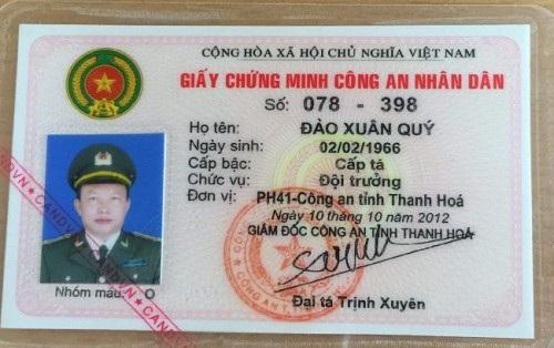Ông Hùng cho biết đây là chiếc thẻ ngành ông Quý dùng để cắm làm tin.