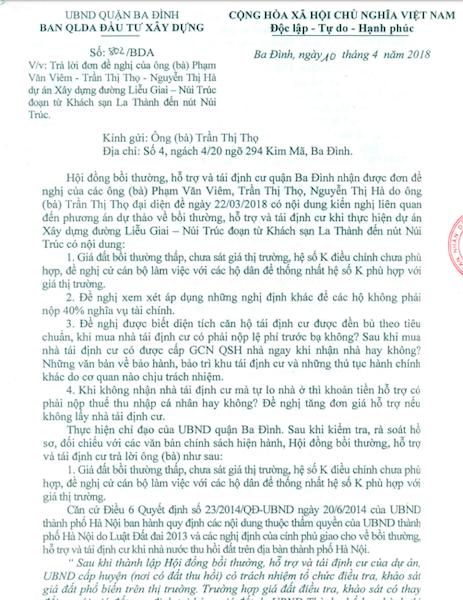 Hà Nội: Ban QLDA đầu tư xây dựng quận Ba Đình trả lời dân, luật sư phản biện! - Ảnh 1.