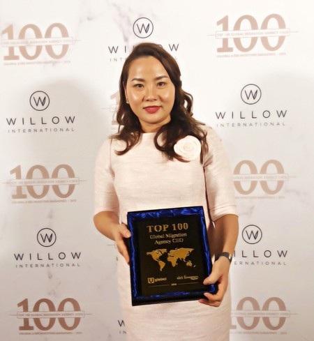 Giám đốc IBID - Huyền Lê mới đây đã đạt giải thưởng Top 100 CEO các công ty tư vấn định cư và quốc tịch toàn cầu do tạp chí nổi tiếng EB-5 Investors & Uglobal bình chọn.