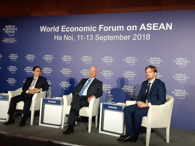 WEF ASEAN 2018 khai mạc tại Hà Nội sáng 12/9 (ảnh: Phương Dung)