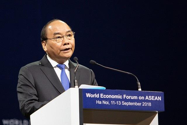 Thủ tướng Chính phủ Nguyễn Xuân Phúc cũng có bài phát biểu quan trọng tại phiên khai mạc.