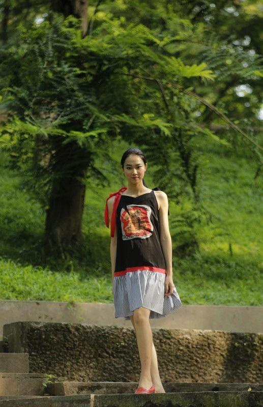 Người đẹp Nhân ái của Hoa hậu Việt Nam 2016 Thuỷ Tiên trong một thiết kế của Công Huân.