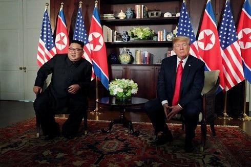 Thượng đỉnh Mỹ - Triều lần 1. (Ảnh: Reuters)