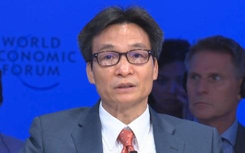 Phó Thủ tướng Vũ Đức Đam phát biểu tại WEF ASEAN 2018.