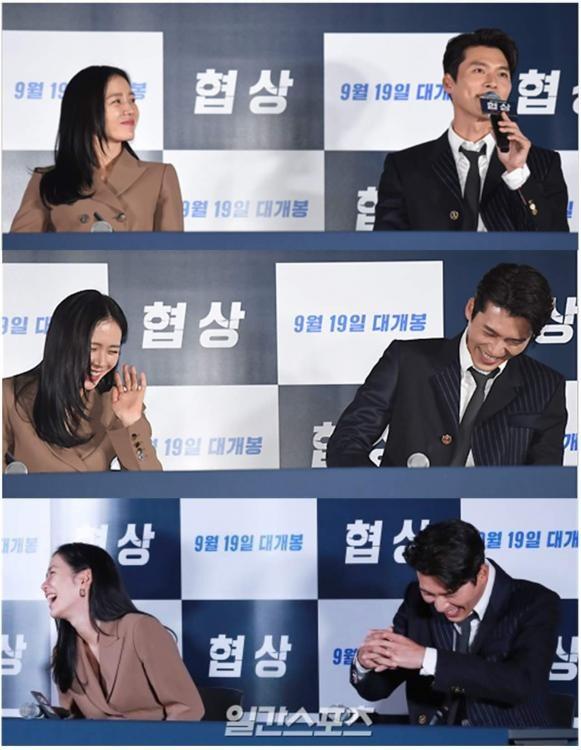 Son Ye Jin và Hyun Bin dành cho nhau những lời có cánh trong họp báo giới thiệu bộ phim Negotiation tại Hàn Quốc.