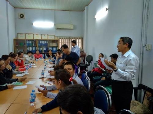 Cán bộ tư vấn pháp luật LĐLĐ TP HCM, hướng dẫn thủ tục khởi kiện cho Công ty TNHH Bum Jin Vina