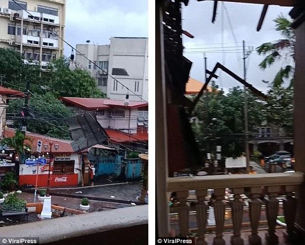 Quang cảnh một góc thành phố Marikina vào chiều thứ 6 sau khi cơn bão bất ngờ ập đến.