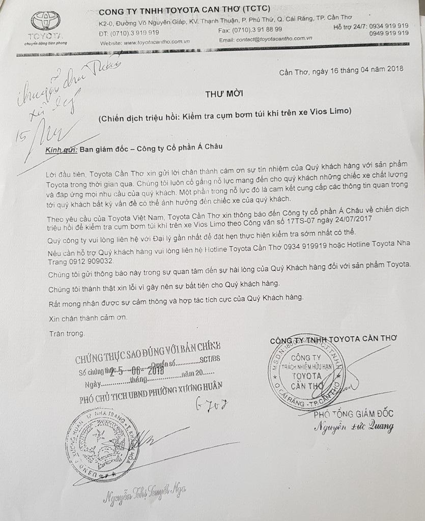 Tranh cãi thương vụ mua 30 xe Vios Limo không có túi khí tại Khánh Hoà - Ảnh 1.