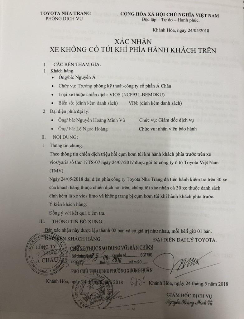 Tranh cãi thương vụ mua 30 xe Vios Limo không có túi khí tại Khánh Hoà - Ảnh 2.