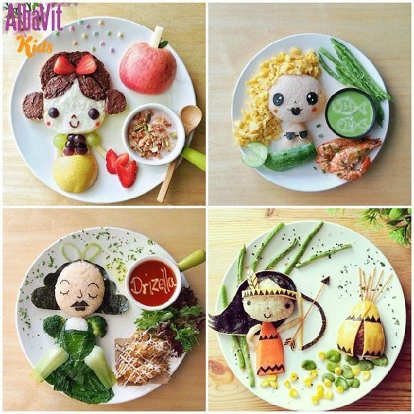 Trình bày bữa ăn đẹp mắt sẽ kích thích trẻ ăn ngon miệng hơn