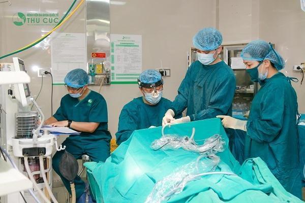 Phòng mổ vô khuẩn một chiều tại Bệnh viện Thu Cúc