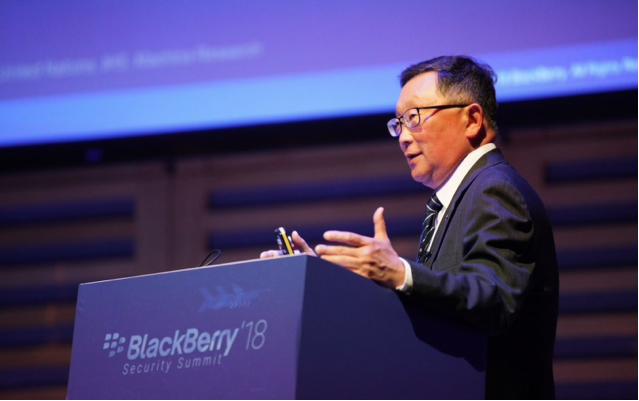CEO John Chen phát biểu tại Hội nghị an ninh Blackberry ở London hôm 12/9 vừa qua (Ảnh: Blackberry)