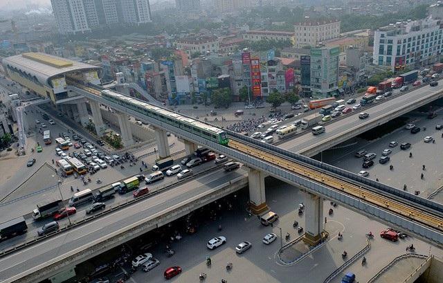 Dự án đường sắt Cát Linh - Hà Đông sẽ vận hành liên động toàn hệ thống từ ngày 20/9 (ảnh: Toàn Vũ)