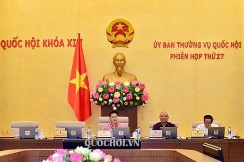 Chủ tịch Quốc hội Nguyễn Thị Kim Ngân điều hành phiên họp. Ảnh: Quochoi.vn