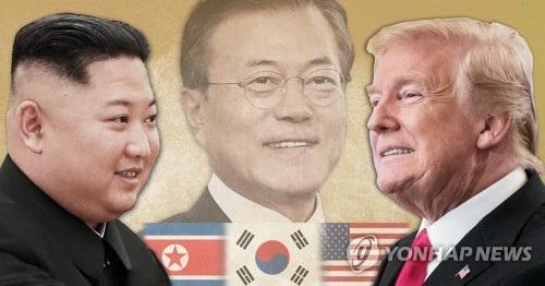 Tổng thống Moon Jae-in được xem là cầu nối quan trọng giữa Tổng thống Mỹ Donald Trump và nhà lãnh đạo Triều Tiên Kim Jong-un (Ảnh: Yonhap)