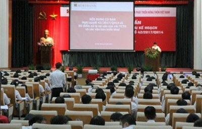 Agribank tổ chức Hội nghị tập huấn trong toàn hệ thống về triển khai Nghị quyết 42