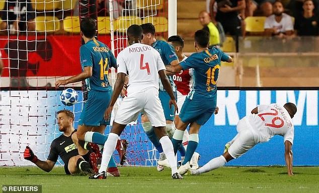 Tình huống Grandsir mở tỷ số cho Monaco ở phút 18