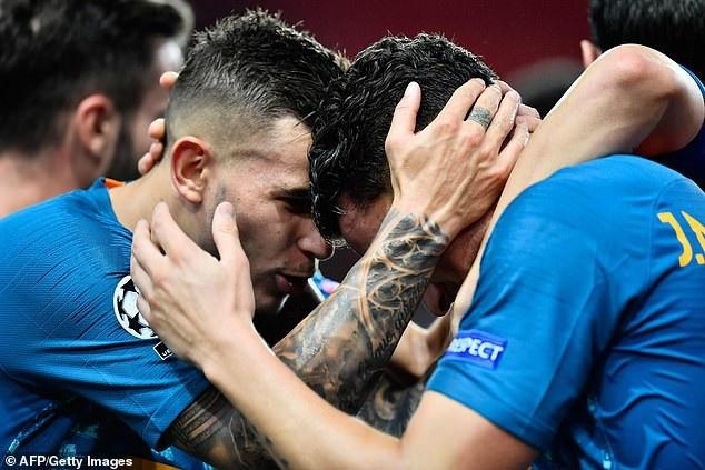 Niềm vui chiến thắng của Atletico ngay tại nước Pháp
