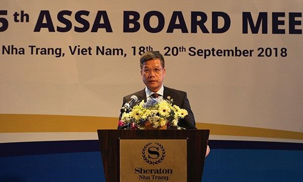 Phó Tổng Giám đốc Trần Đình Liệu phát biểu.