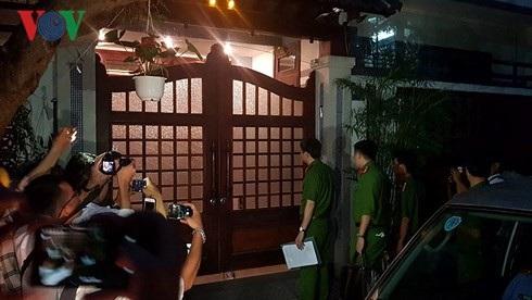 Công an khám xét nhà ở của ông Đào Tấn Bằng.