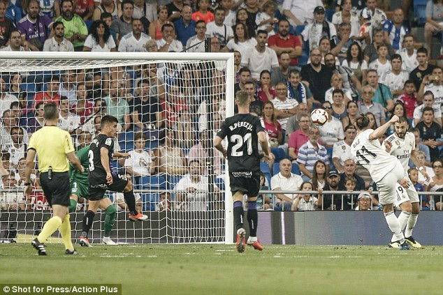 Bale ghi bàn mở tỷ số cho Real Madrid